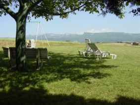 paysage terrasse campagne Charpey Vercors